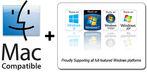 Compatible with both Windows PC and Mac Computers